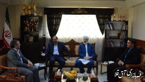 نشست مشترک فرماندار شهرستان آق قلا با مدیر کل آموزش فنی و حرفه ای استان