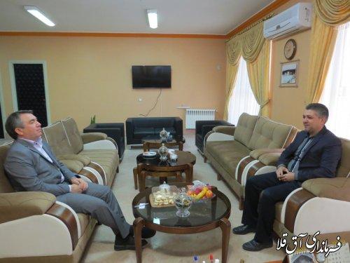 دیدار رئيس شوراي اسلامی شهر آق قلا با فرماندار
