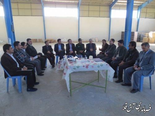 هفتمین جلسه کمیسیون کارگری شهرستان آق قلا برگزار شد