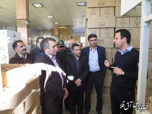 بازدید فرماندار و اعضای شورای تامین شهرستان آق قلا از واحد صبا نور