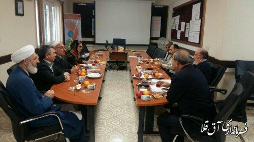 دیدار فرماندار شهرستان آق قلا با معاون بهداشتی دانشگاه علوم پزشکی گلستان