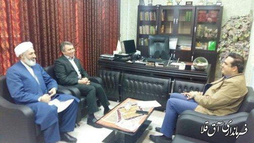 دیدار فرماندار شهرستان آق قلا با مدیر کل کتابخانه های عمومی استان