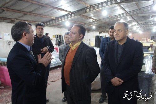 بازدید مسئولین معاونت مناطق محروم ریاست جمهوری از روستای عطا آباد