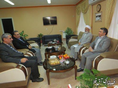 مدیر کل آموزش و پرورش استان با فرماندار شهرستان آق قلا دیدار کرد