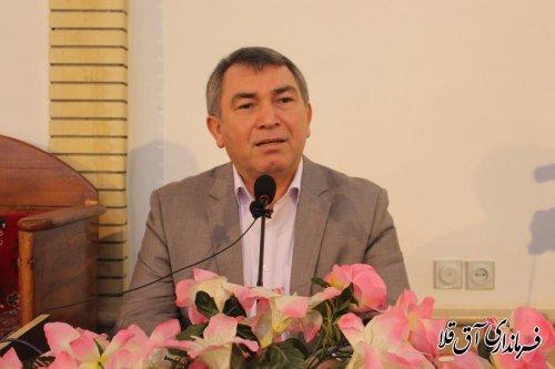 سخنرانی فرماندار در خصوص برنامه های دهه فجر شهرستان آق قلا