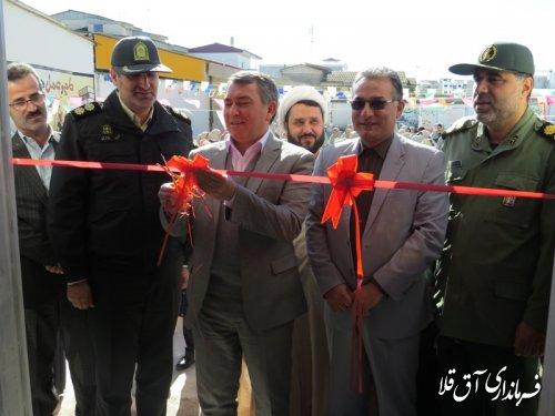 نمایشگاه آثار فرهنگی و هنری دانش آموزان شهرستان آق قلا افتتاح شد