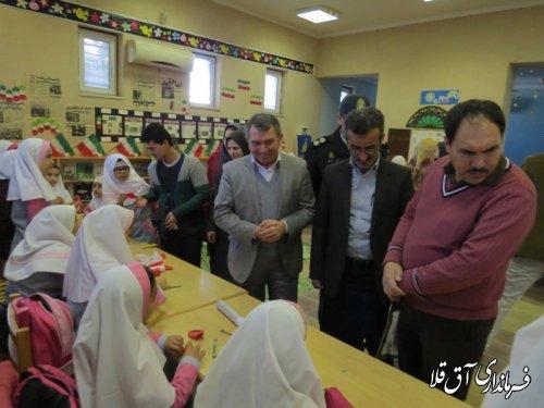 نمایشگاه خیریه غذا و صنایع دستی در شهرستان آق قلا افتتاح شد