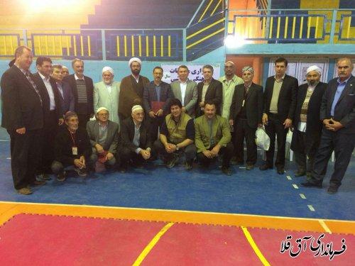 """مسابقات کشتی سنتی""""گورش""""به مناسبت دهه مبارک فجر در شهرستان آق قلا"""