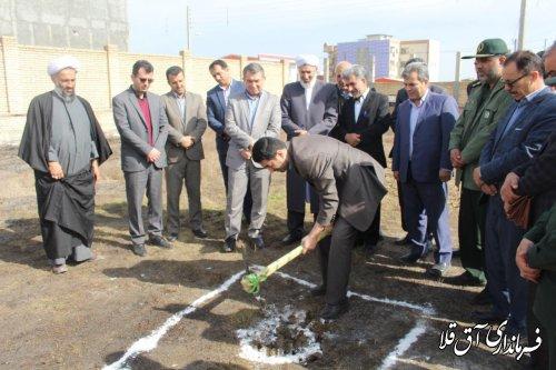 مراسم کلنگ زنی ساختمان اداری کمیته امداد امام خمینی(ره) شهرستان آق قلا
