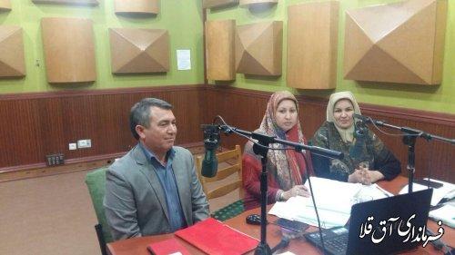 حضور فرماندار شهرستان آق قلا در برنامه زنده رادیویی ترکمنی صدای گلستان