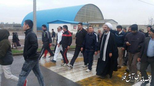 همایش پیاده روی خانوادگی در شهر آق قلا برگزار شد