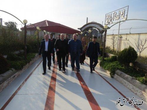 """تالار پذیرائی""""آلما گل""""روستای قربان آباد شهرستان آق قلا افتتاح شد"""
