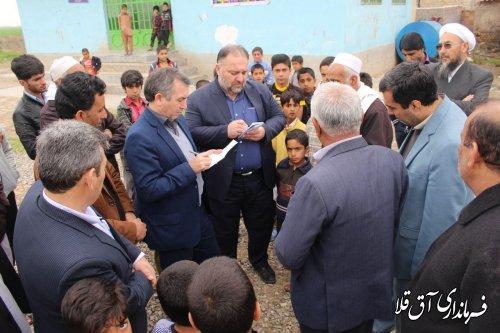 دیدار مردمی(میز خدمت) فرماندار شهرستان آق قلا با 12 روستای بخش مرکزی