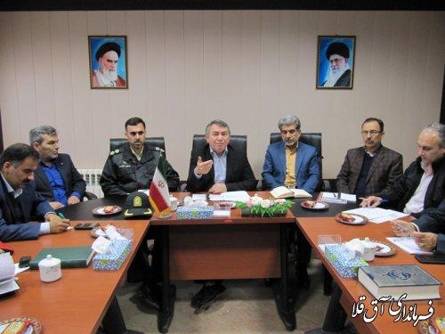 آخرین جلسه ستاد مدیریت بحران و کارگروه امداد و نجات شهرستان آق قلا در سال جاری