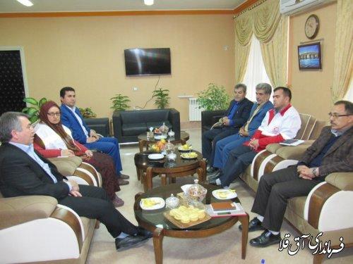 جلسه هماهنگی برپائی دهکده گردشگری و جشنواره نوروزگاه شهرستان آق قلا