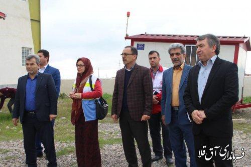بازدید فرماندار شهرستان آق قلا از مراحل آماده سازی دهکده گردشگری