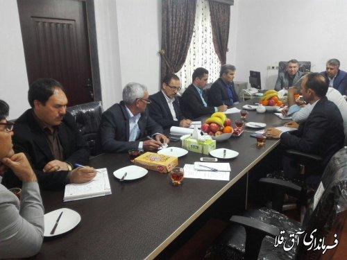 اولین جلسه هماهنگی ستاد بزرگداشت مختومقلی فراغی در شهرستان آق قلا