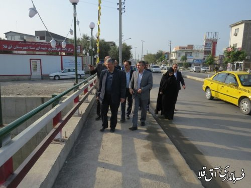 بازدید معاون هماهنگی امور عمرانی استانداری از پروژه های شهرستان آق قلا