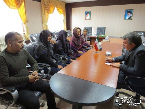 شهروندان مشکلات خود را چهره به چهره با فرماندار شهرستان آق قلا مطرح کردند