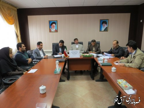 اولین جلسه کمیسیون کارگری شهرستان آق قلا در سال جدید برگزار شد