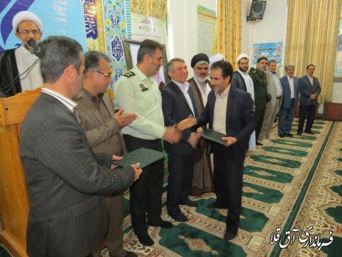 جشن نیمه شعبان و گرامیداشت سربازان گمنام در شهر آق قلا برگزار شد