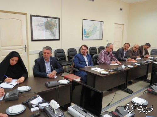 جلسه تخصیص زمین جهت احداث درمانگاه تامین اجتماعی و ثبت اسناد و املاک شهرستان آق قلا