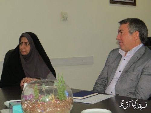 دیدار فرماندار شهرستان آق قلا با مدیر کل دفتر امور شهری و شوراهای استانداری