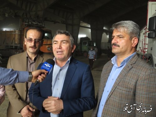 50 هزار تن گندم تا کنون تحویل مراکز خرید شهرستان آق قلا شده است