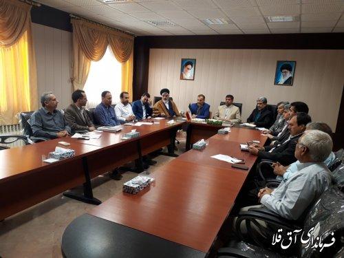 اولین جلسه کمیسیون مبارزه با قاچاق کالا و ارز شهرستان آق قلا در سال جاری