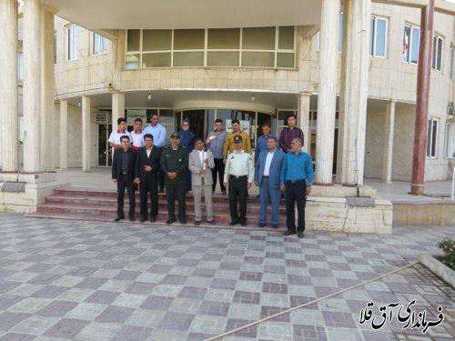 حمل مشعل سلامت به مناسبت هفته مبارزه با مواد مخدر در شهرستان آق قلا