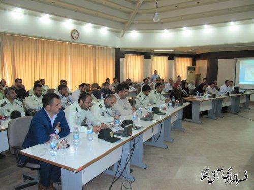 کارگاه آموزشی حمایت از تولید و نظارت بر شفاف سازی گردش کالا در شهرستان آق قلا