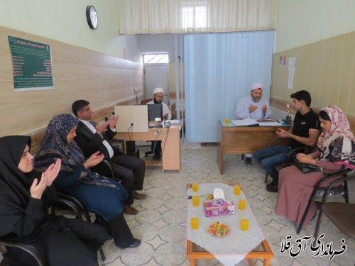 حضور معاون فرماندار شهرستان آق قلا در دفتر خانه ثبت ازدواج