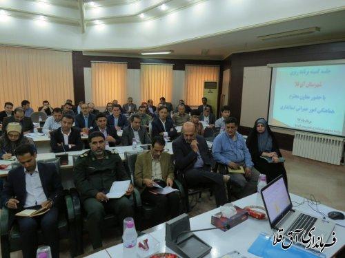 جلسه کمیته برنامه ریزی شهرستان آق قلا برگزار شد