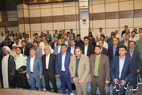 آئین افتتاح متمرکز پروژه های هفته دولت شهرستان آق قلا برگزار شد