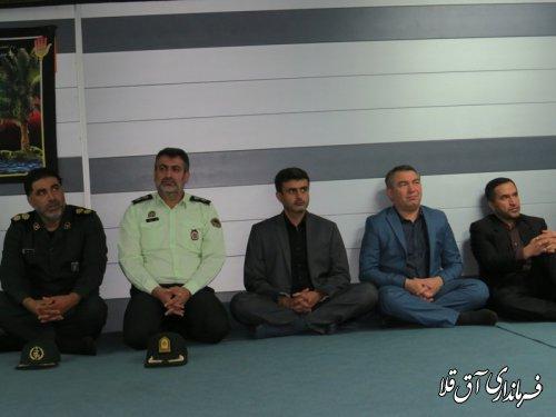 مراسم عزاداری سید الشهداء در فرمانداری شهرستان آق قلا برگزار شد