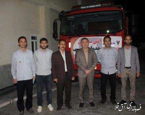 نماینده عالی دولت از پایگاه آتش نشانی شهر آق قلا بازدید کرد