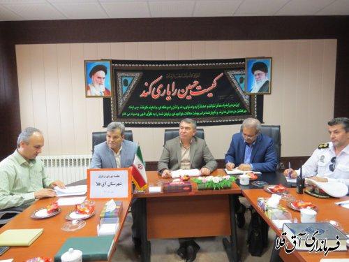 دومین جلسه شورای ترافیک شهرستان آق قلا در سال جاری برگزار شد