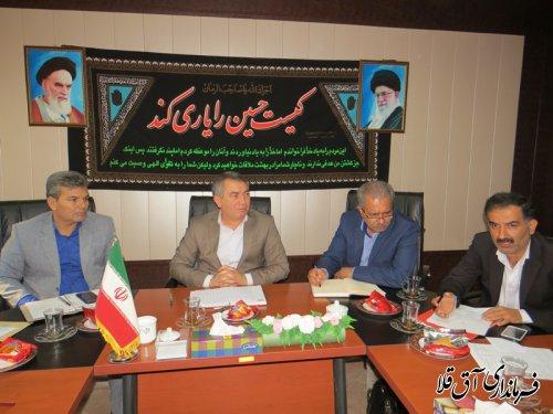 یازدهمین جلسه کارگروه تنظیم بازار شهرستان آق قلا برگزار شد