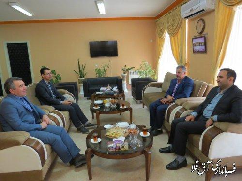 فرماندار شهرستان آق قلا با مدیر شعب بانک توسعه تعاون استان،نشست مشترک برگزار کرد