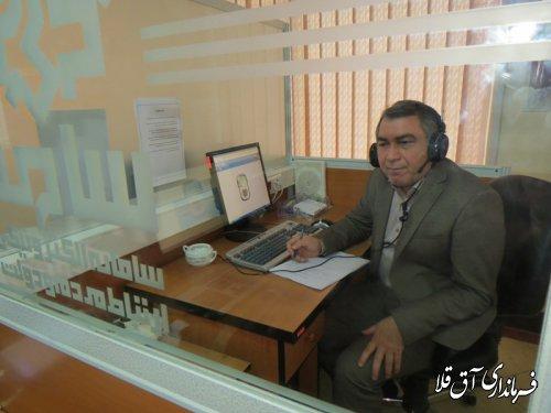 نماینده عالی دولت در شهرستان آق قلا، پاسخگوی شهروندان در مرکز سامد بود