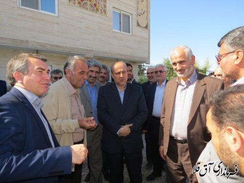 """بازدید استاندار گلستان از واحد گاوداری شیری""""تک نام""""شهرستان آق قلا"""