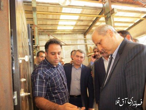 استاندار گلستان از دو واحد تولیدی شهرک صنعتی آق قلا بازدید کرد