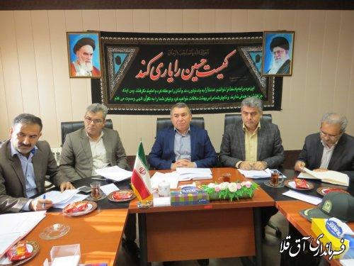 سیزدهمین جلسه کارگروه تنظیم بازار شهرستان آق قلا برگزار شد