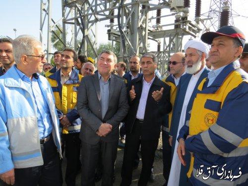 بازدید مسئولین دستگاههای اجرایی از پست63/20 کیلو ولت شهرستان آق قلا