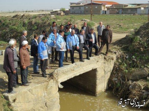 بازدید مدیر کل مدیریت بحران استانداری از پل ورودی سوم روستای قربان آباد بخش مرکزی