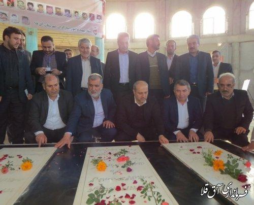 ادای احترام نماینده عالی دولت در استان به مقام شامخ شهدای گمنام شهر آق قلا