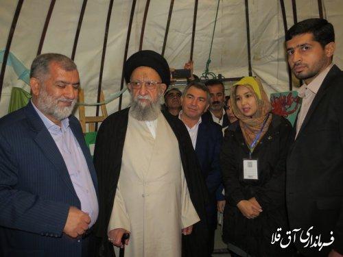 نماینده ولی فقیه در استان و استاندار گلستان از نمایشگاه اجلاسیه نماز بازدید بعمل آوردند
