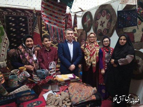 بازدید فرماندار شهرستان آق قلا از دوازدهمین جشنواره بین الملی فرهنگ اقوام