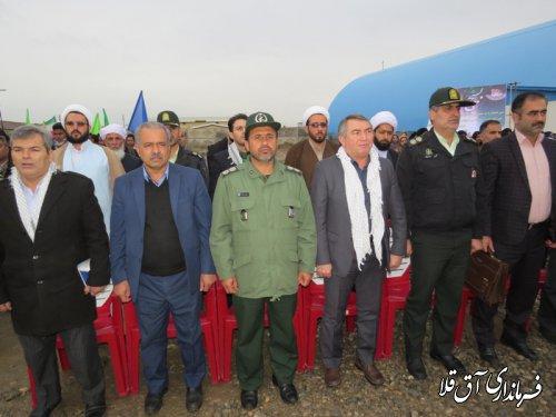 تجمع بزرگ شکوه مقاومت در شهرستان آق قلا برگزار شد