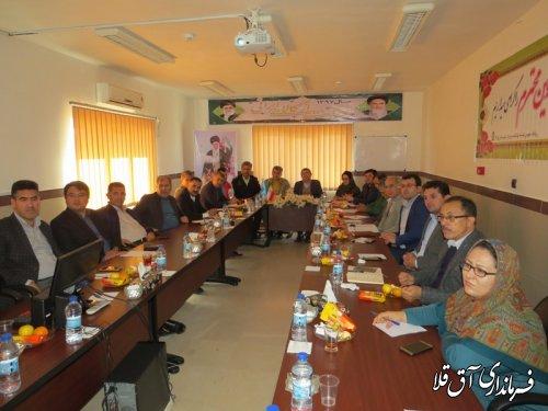 پنجمین جلسه کارگروه تخصصی سلامت و امنیت غذایی شهرستان آق قلا برگزار شد